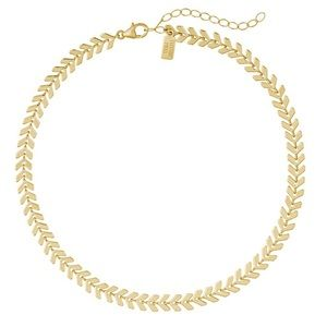 Jewelry - Chevron Choker Chain Necklace 14kt Gold Plated NEW